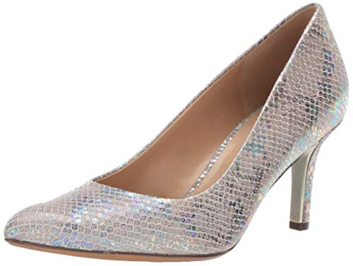 Naturalizer Women's Natalie Pump Silver Snake 10 W US