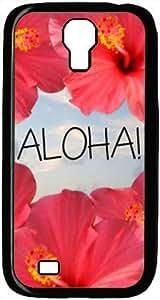 Aloha With Flower Theme Samsung Galaxy S4 i9500 Case by mcsharks