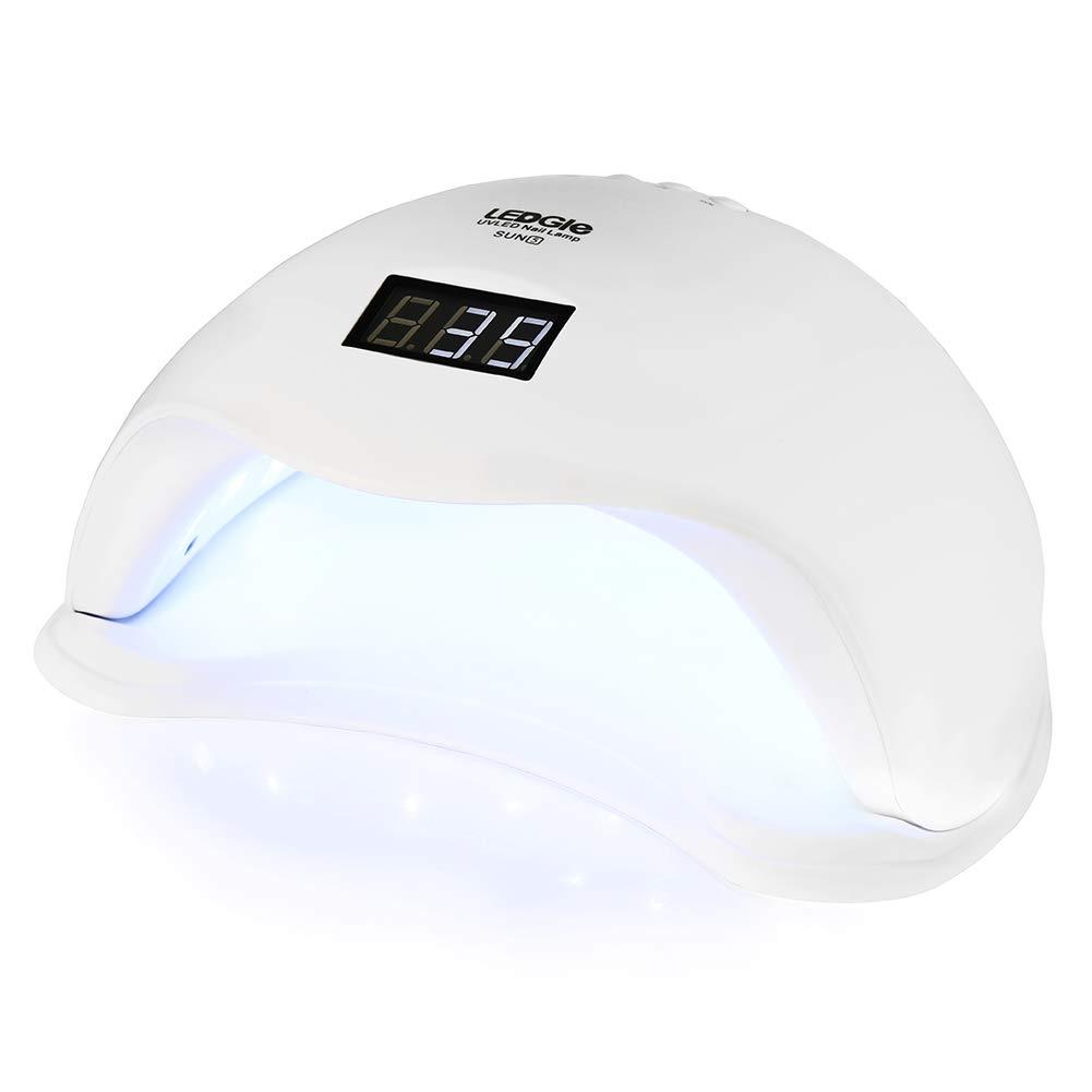 LEDGLE 24W UV LED Nail Lamp Smart Nail Dryer Nail Dryer Curing Lamps Nail Polish Dryer with 4 Timer Settings, Advanced Sensor, White
