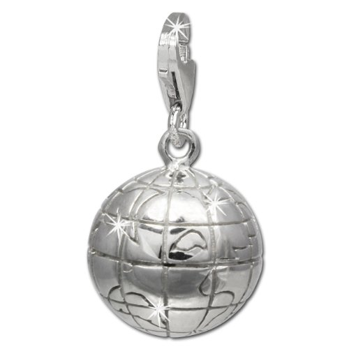 SilberDream Charm globe 925 Sterling Sil - Silver Sterling Silver Globe Shopping Results