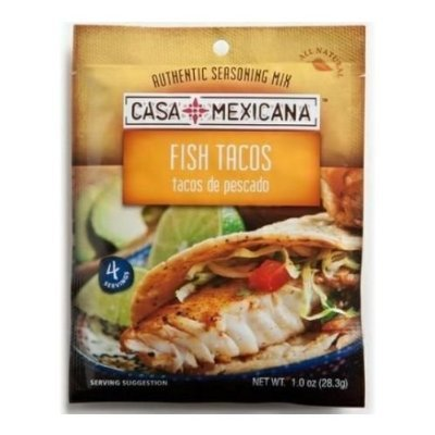 Casa Mexicana Fish Taco Seasoning Mix, 1 Ounce (Pack of 12)