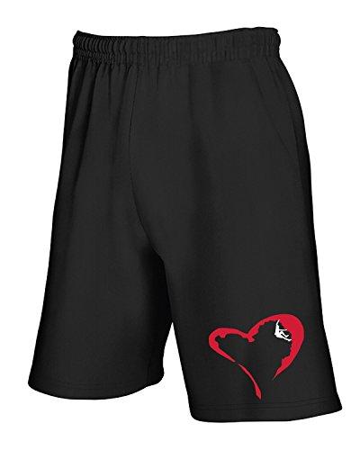 T shirtshock Nero Tlove0094 Climber Heart Tuta Pantaloncini CzCqF