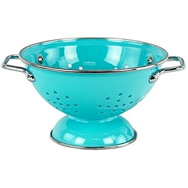 Calypso Basics by Reston Lloyd Powder Coated Enameled Colander, 1 Quart, Turquoise