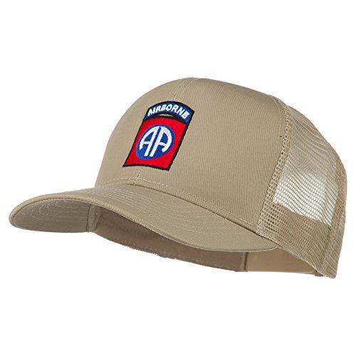 82nd Airborne Embroidered Mesh Cap - Khaki OSFM