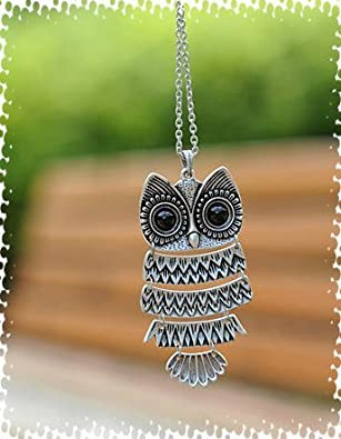 Buy girlz retro classic bronze owl necklace pendant with chain for retro classic bronze owl necklace pendant with chain for girl bronze finish online at low prices in india amazon jewellery store amazon aloadofball Image collections