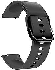 For Samsung Galaxy Watch ACTIVE (20mm) - Premium Silicone Soft Smart Watch Band Strap - Black