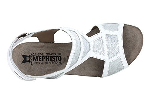 MEPHISTO JOSIA, WHITE, SILK 7830, SANDALO CON ZEPPA