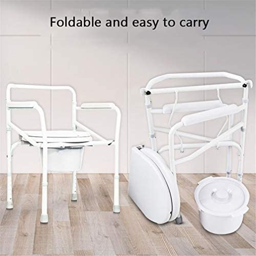Bbhhyy Toilettenstuhl WC-Stuhl Schwangere Frauen Ältere Removable Toilette Hocker Höhenverstellbarer WC