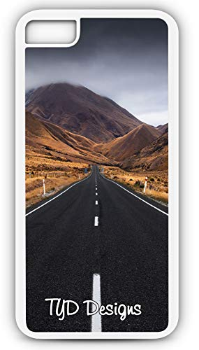 - iPhone 7 Case Street Road Infinity Straight Endless Perspective Customizable TYD Designs in White Plastic