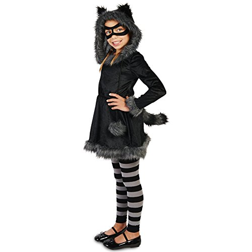 Raccoon with Tights Child Costume M (8-10) (Kids Raccoon Costume)