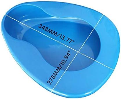 Bedpan for Women Men Elderly, Large Bedpan for Bedridden Patient Female Male, Bed Pan for Bedbound Emergency Device Hospital Home (Blue) 41eG6yG0rrL