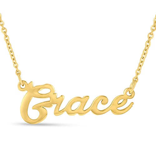 Grace Nameplate Necklace In Gold Tone ()