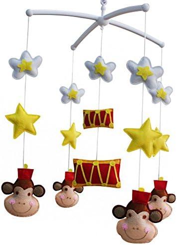 赤ちゃんが眠りに落ちるのを助ける赤ちゃんミュージカル玩具ベビーベッドモバイルベル、人形タイプ、A04