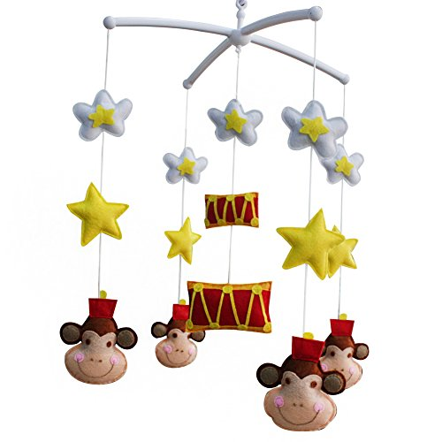 Infant Musical Mobile, [Star, Circus, Monkey] Nursery Mobile, Baby Mobile