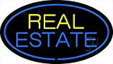 """Real Estate Clear Backing Neon Sign 17"""" Tall x 30"""" Wide"""
