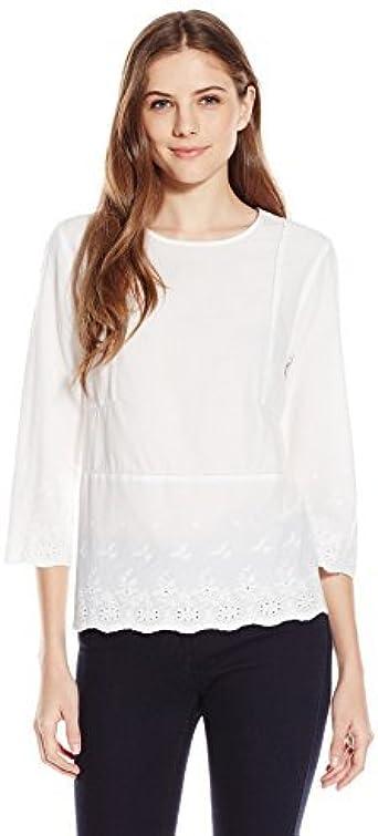 Brand Lark /& Ro Womens Three Quarter Sleeve V-Neck T-Shirt