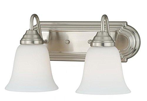 Vaxcel W0132 708 Series 2 Light Vanity Light, Satin Nickel Finish - Series 2 Light Vanity Lamp