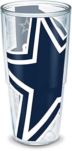 Tervis 1197054 NFL Dallas Cowboys Colossal Wrap Individual Tumbler, 24 oz, -