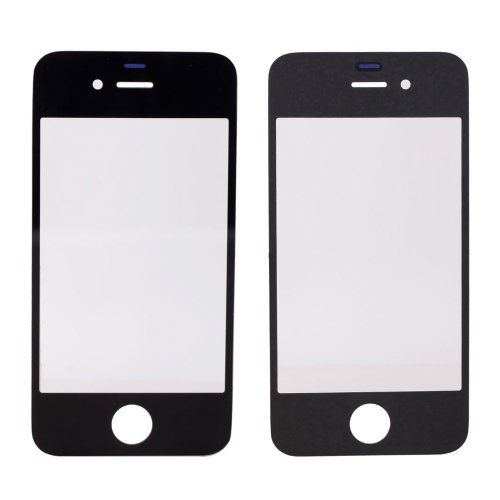 Replacement Front Screen Glass Lens Cover for Iphone 4+repair Opening Pry Tools Kit Set for Iphone 4/4s/5 (Black)
