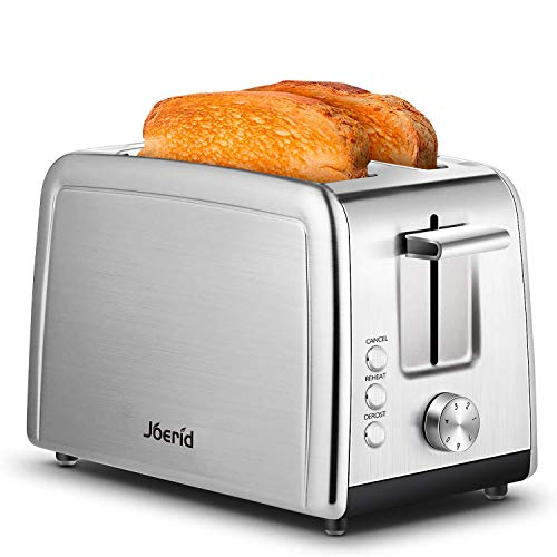 2 Slice Toaster,Joerid retro toaster oven ,Stainless Steel Bread Toaster with 7 Browning Settings, Extra Wide Slot…