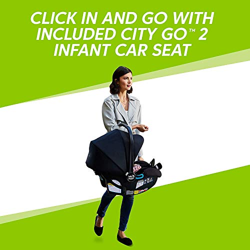41eG8l5M%2BOL - Baby Jogger City Select Travel System | Baby Stroller With City Go 2 Car Seat | Stroller Car Seat Combo With 16 Ways To Ride, Jet