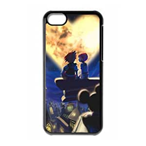 Kingdom Hearts Funda iPhone 5c Funda Caja del teléfono celular Negro K4F5SB Cell Phone Cases Clear Custom