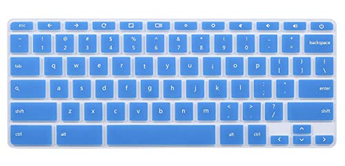 Keyboard Cover for 2018/2017 HP Flagship High Performance 11.6 Touchscreen Chromebook, HP Chromebook 11 G2 / G3 / G4 / G5 11.6 Inch Chromebook(NOT Fit for Chromebook 11 G5 EE and Other Models)(Blue)