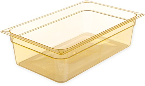 Carlisle 10402B13 High Heat Full Size Food Pan, 19.4 qt Capacity, 20-3/4'' Length x 12-3/4'' Width x 6'' Height, Amber (Case of 6) by Carlisle