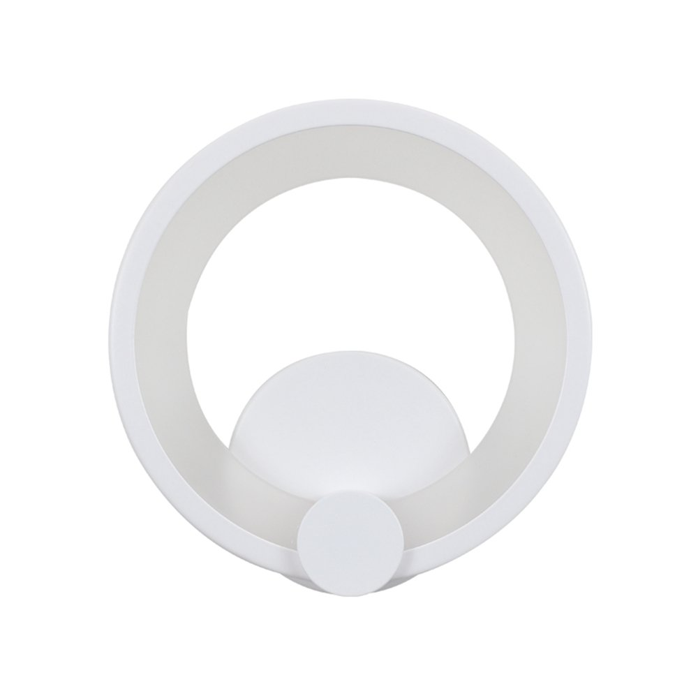 M Warm Weiß Light LED Wandleuchte Weiß Runde Aluminium Wandleuchte Moderne Kreative Korridor Eingang Schlafzimmer Balkon Lampe (Größe   M warm Weiß light)
