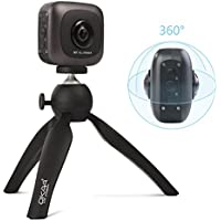 OKAA VR 360 Camera, Wireless Panoramic Camera IPX4 Waterproof with Dual Wide Angle Fisheye Lens for Android and iOS (Black)