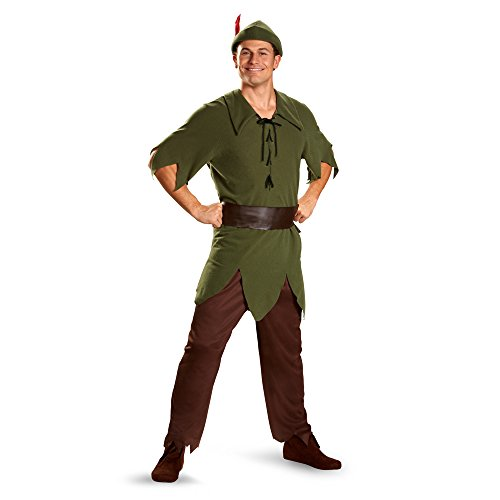 Peter Pan Classic Costume - X-Large - Chest Size 42-46 (Peter Pan Costume Men)