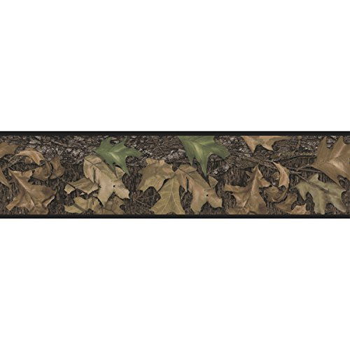 RoomMates Mossy Oak Camouflage Peel and Stick - Leaf Wallpaper Border