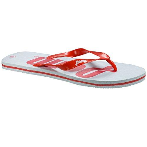 Unisex Adulti Penn Bianco rosso Sandali bianco EfE5wqH