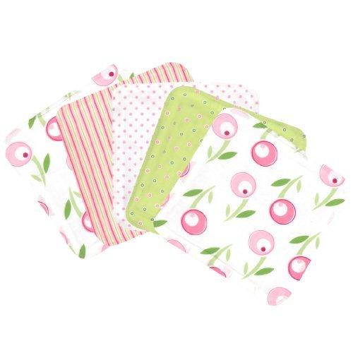 Trend Lab Tiptoe Tulip Blooming Bouquet Wash Cloths, Set of 5 by Trend - Blooming Bouquet Washcloths