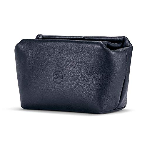 Leica Leather Soft Pouch w/Magnetic Closure (Small,Blue)
