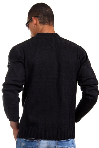 EXUMA Strickjacke slim fit (schwarz)