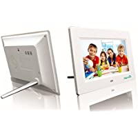 Digital Photo Frame 7-inch HD Video Player Digital Picture Frame with Music, Calendar, Support SD/TF Card Photo Digital Gift