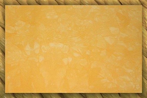 28 Count Cashel Embroidery Linen/Fabric - Fat-Eighth - Tangerine, Orange-Yellow (Dyed Linen Cashel Hand)