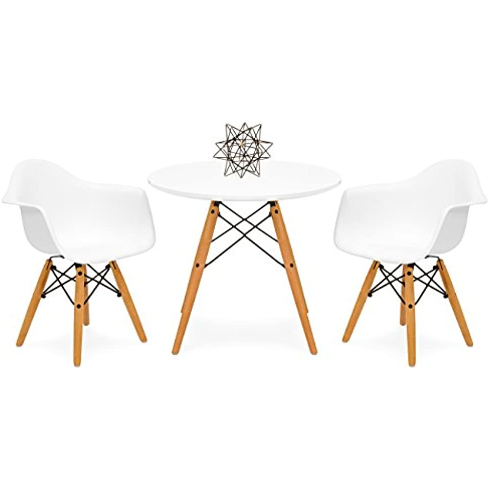 Terrific Details About Kids Mid Century Modern Mini Eames Multifunctional Round Table Set For Bedroom Complete Home Design Collection Barbaintelli Responsecom