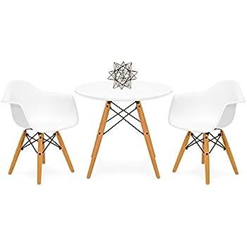 Amazon.com: Eames Style Kids Round White Table & 2 Kids