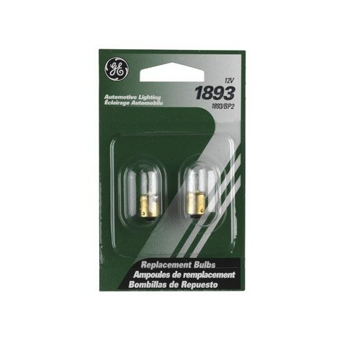 Ge Miniature Lamps Bulb No. 1893-Bp2 12 V 2 / Carded