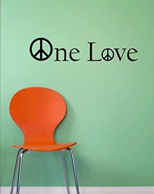 One Love Decal Bob Marley Peace decal sticker wall reggae music rasta