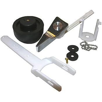 LASCO 04 1599 Toilet Flapper Complete Flush Valve Assembly Kit With Flush  Lever, For