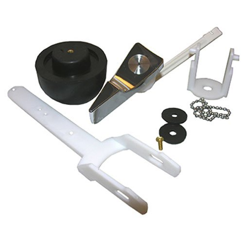 LASCO 04-1599 Toilet Flapper Complete Flush Valve Assembly Kit with Flush Lever, for Eljer Touch Flush Toilets, Carded