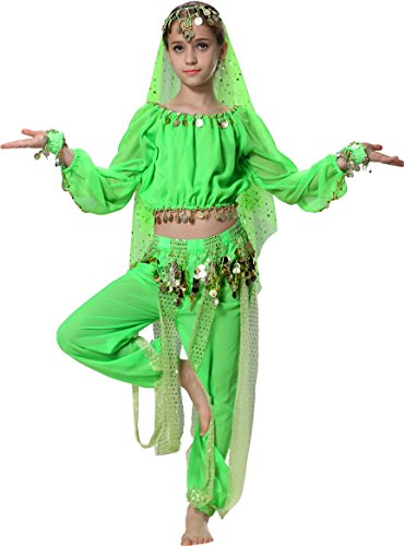 Fairycece Kids Belly Dance Harem Pants 5 6 7 Apple -