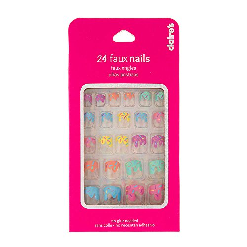 Claires Accessories Colorful Sprinkles French Tip Faux