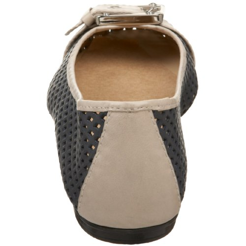 French FS NY Flat Sole Cream Navy Waffle Women's Ballet qErUqx5w