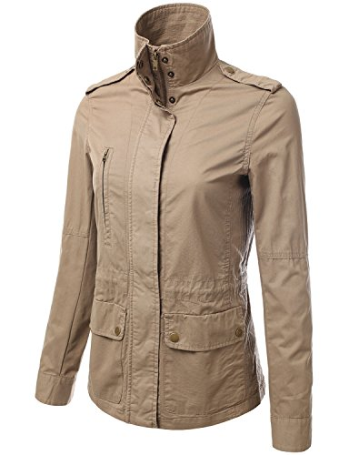 008c45aceb9 JJ Perfection Women's Casual Lightweight Anorak Army Utility Hoodie Jacket  - Buy Online in Oman. | Apparel Products in Oman - See Prices, Reviews and  Free ...
