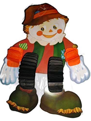- Jointed Scarecrow Cutout Autumn Halloween Thanksgiving Decoration 2.5 Ft. Tall