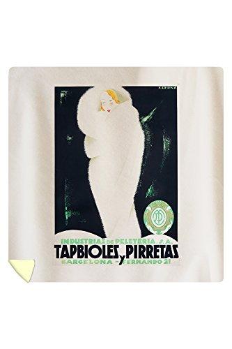 Tabpioles y Pirretas Vintage Poster (artist: Cerny) Spain c. 1929 (88x88 Queen Microfiber Duvet Cover) by Lantern Press